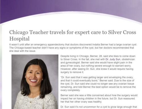 Chicago Teacher travels for expert care to Silver Cross Hospital